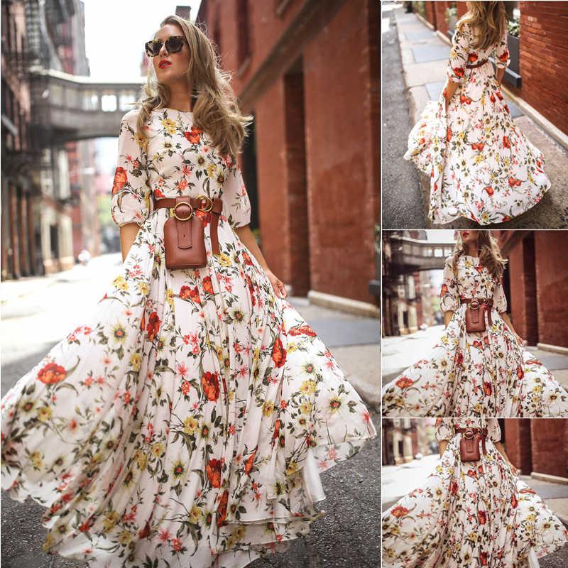 Длинное Платье В Цветочек