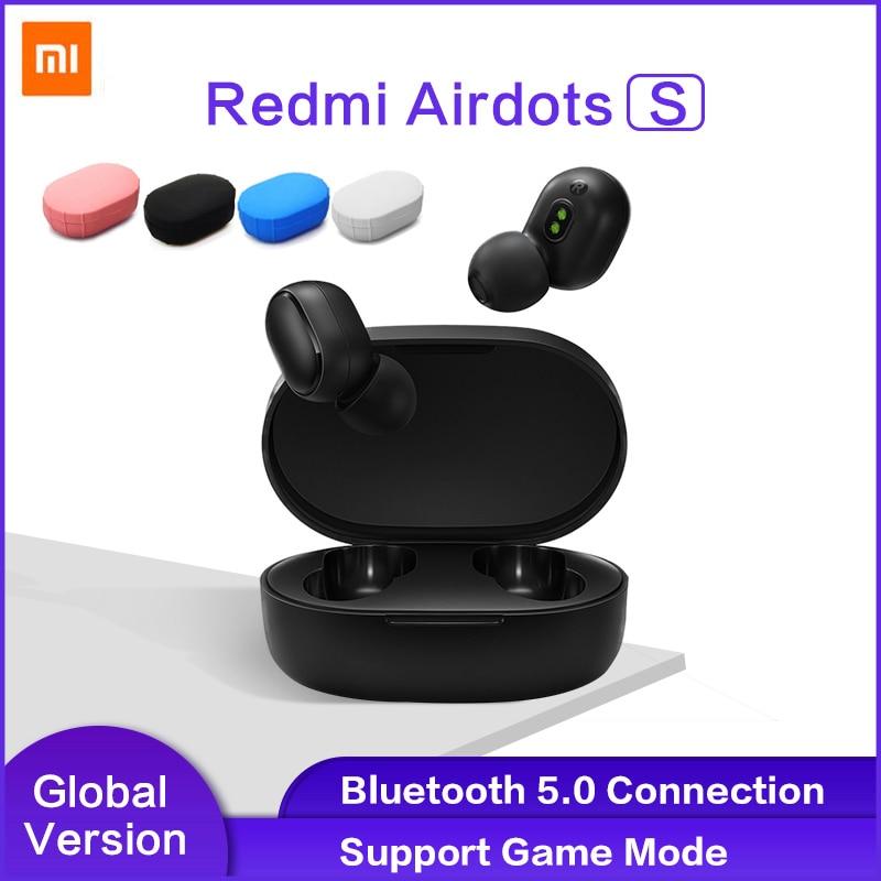 Xiaomi Redmi AirDots наушники Bluetooth гарнитура 5,0 TWS истинный беспроводной стерео SBC милый мини светильник наушники с автоматической зарядкой