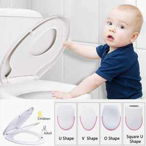 Potty Toilet-Lid Training-Cover Travel-Pot Slow-Close Double-Layer for Kids Pp-Material