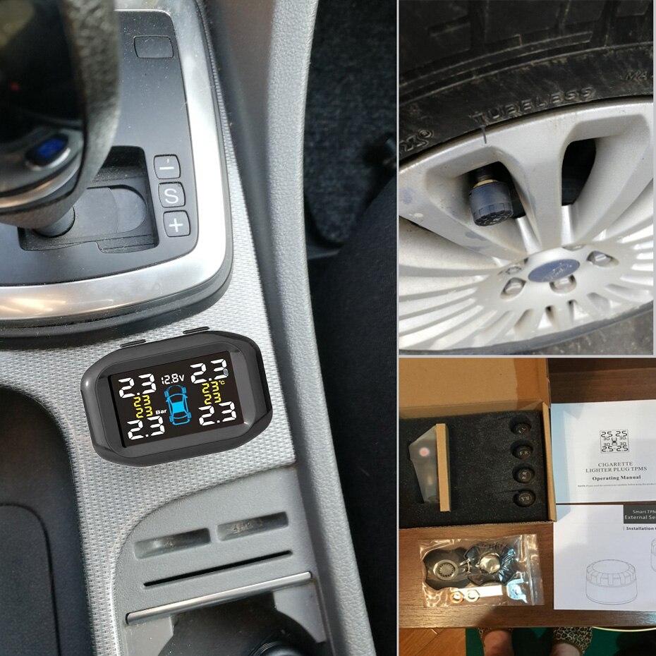 Система контроля давления в шинах Visture TPMS с выходом USB 10 Вт, система контроля давления в шинах, внешний внутренний датчик T05W T07W T05N