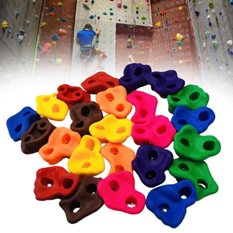 10pcs Plastic Colorful Textured Climbing Rock Wall Stones For Kids  At Random