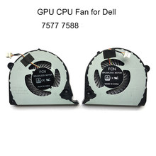 Ventilador de refrigeração portátil para dell inspiron 15 7577 7588 gpu placa gráfica cpu cooler fãs dc 5v dfs2000054h0t dfs541105fc0t fjqs fjqt