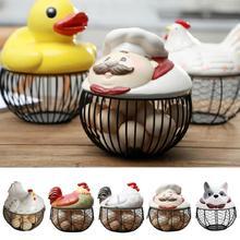 Ceramic Egg Stand Chicken Silk Egg Basket Fruit Basket Collection Ceramic Chicken Sprout Decoration Kitchen Storage