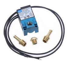 MAC 3 Port elektroniczny impuls kontrolny zawór elektromagnetyczny DC12V 35A ACA DDBA 1BA z 6MM łączniki rur mosiądzu tłumik