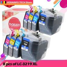 8 шт lc3219 lc3219xl совместимый полный чернильный картридж