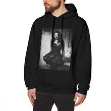 Evanescence Grey Cotton Hoodie