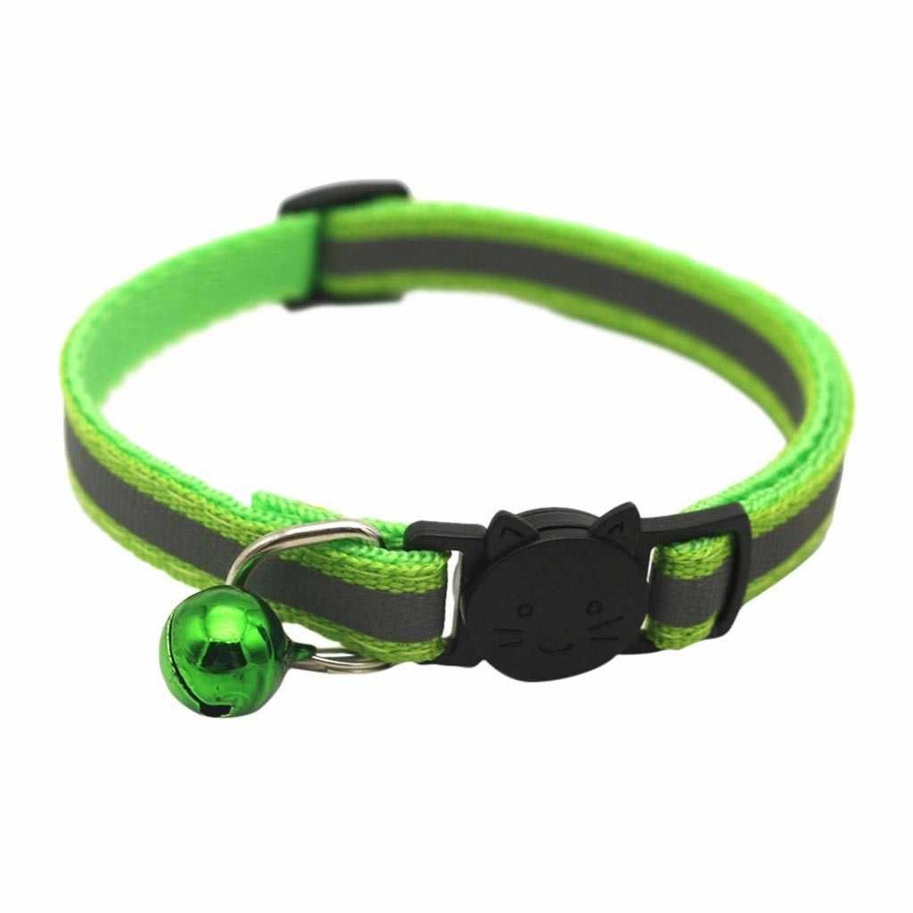 ナイロン猫の首輪パーソナライズペットの首輪名前 ID タグ反射チワワ子猫首輪ネックレスペットのための犬のアクセサリー