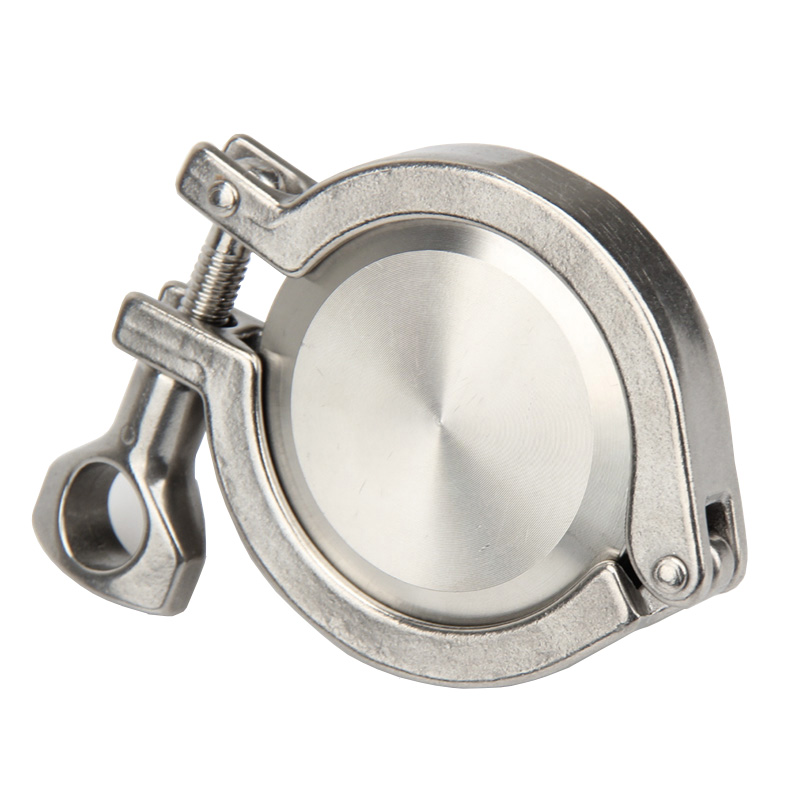 """19/25/32/38/45/51mm OD SS304 Sanitary TriClamp Ferrule K50.5+K64 End Cap + Tri Clamp 1.5"""" 2""""+ Silicon Gasket"""