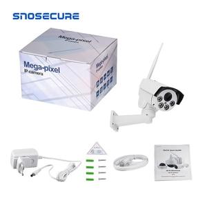 Image 5 - Snosecure wifi câmera ip ptz bala ao ar livre 5x 10x zoom óptico 5mp sem fio ir noite onvif áudio cctv câmera normal e poe
