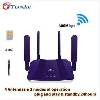 300Mbps 4G LTE Unlocked SIM CPE Router Wifi Broadband Mobile Hotspot WAN/LAN Port Antennas Home Modem Dongle with SIM card slot 4 port gigabit home terminal broadband terminal fiber optic module 4g home routing all in one machine optical modem gpon