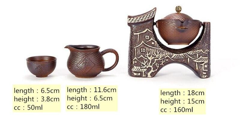 8 pçs set retro cerâmica preguiçoso homem