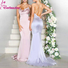 Vestido Madrinha Mermaid Bridesmaid Dresses Long 2020 Satin