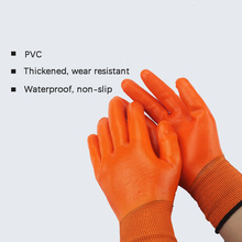Working-Protective-Gloves Construction-Site Wear-Resistant Waterproof Thick PVC Dipped
