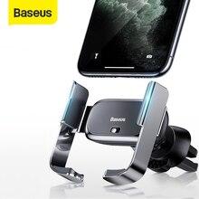 "Baseus Soporte de teléfono eléctrico para Iphone 11 XS, Samsung 4,7 6,5 "", soporte de ventilación de aire para coche"