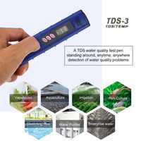 1 pc medidor de ph portátil tds medidor lcd medidor de ph digital 0-9990ppm qualidade da água teste caneta dureza analisador medidor ph aquario