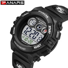 Брендовые Детские часы PANARS, 50 м, водонепроницаемые, светодиодный, цифровые, многофункциональные, наручные часы, уличные, спортивные часы для детей, для мальчиков и девочек