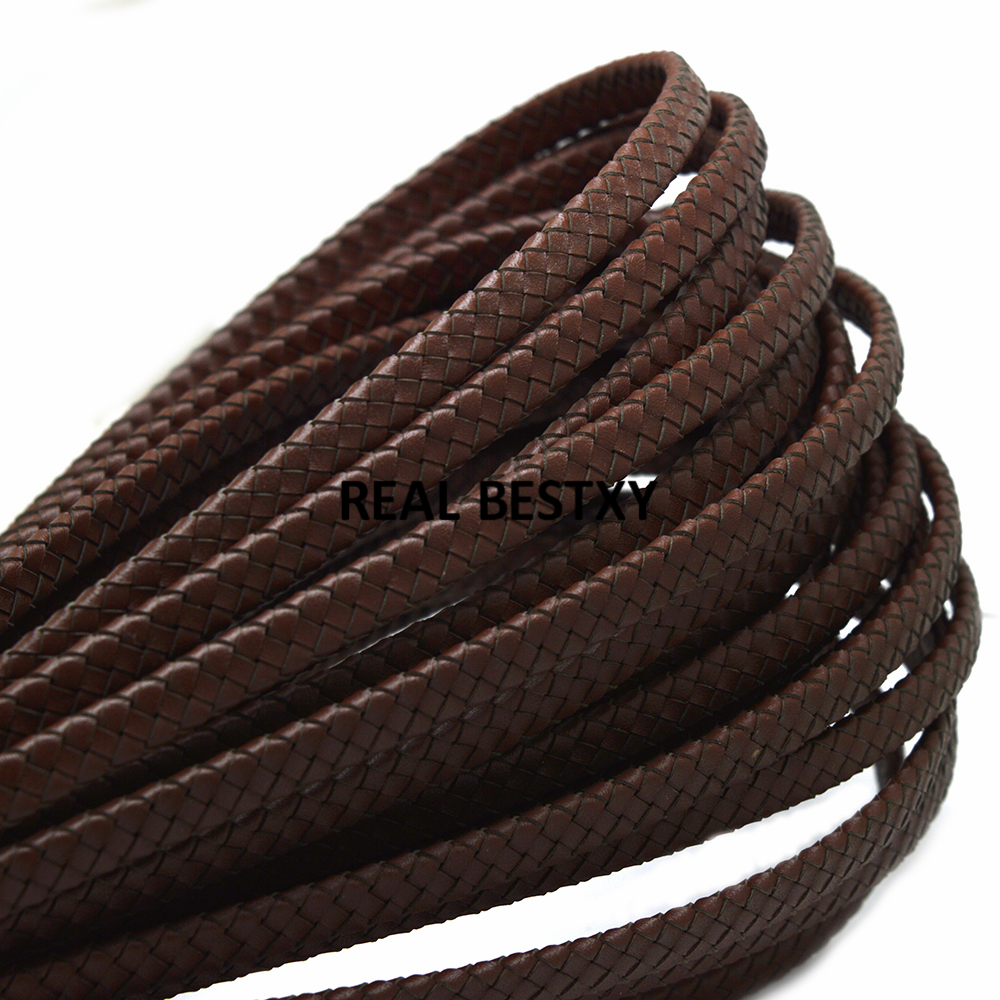 JEWELLERY MAKING STRINGING MATERIAL 10m X 2mm BROWN LEATHER CORD