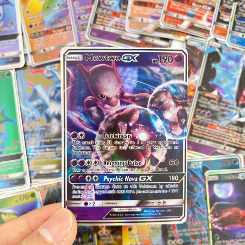 300 шт без повтора Pokemon card GX сияющая Такара TOMY игра битва карт торговая детская игрушка