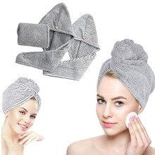 2 упаковки бамбуковое волокно для сушки волос, полотенце, шапочка для душа, тюрбан, впитывающее быстросохнущее полотенце для волос, шапка дл...