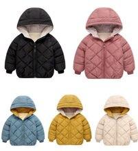 цена на Children's down jacket Kids Down jacket hooded Children warm Parka Cotton-padded jacket coat outerwear