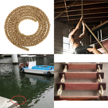Premium Treated Versatile Twisted Manila Rope Un Manila Natural Boat 12mm