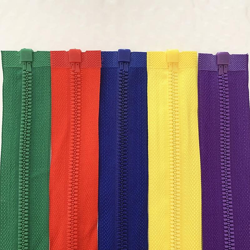 20шт 5# 25-70см съемный застежка-молния смолаы открытие автоматического экологического замок застежки-молнии для пошива костюма