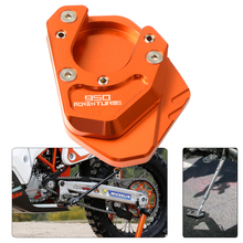 For KTM 950 ADVENTURE S 950ADVENTURE 2004 2005 2006 Kickstand Side Stand Enlarge plate Extension Pad Support Plate motorcycle cnc kickstand foot side stand extension pad support plate enlarge stand for ktm 950 supermoto 2006 2007 with logo