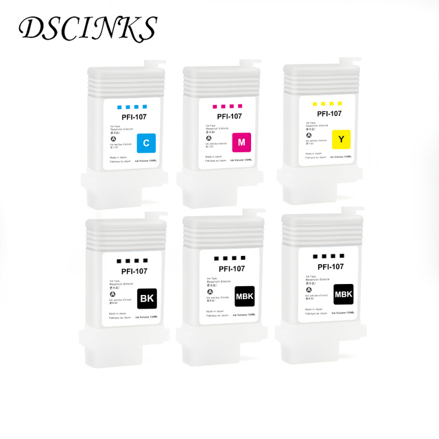PFI 107 Refillable Ink Cartridge for Canon IPF670 IPF680 IPF685 IPF770 IPF780 IPF785 IPF 670 IPF 770 IPF 670 770 PFI107 PFI 107