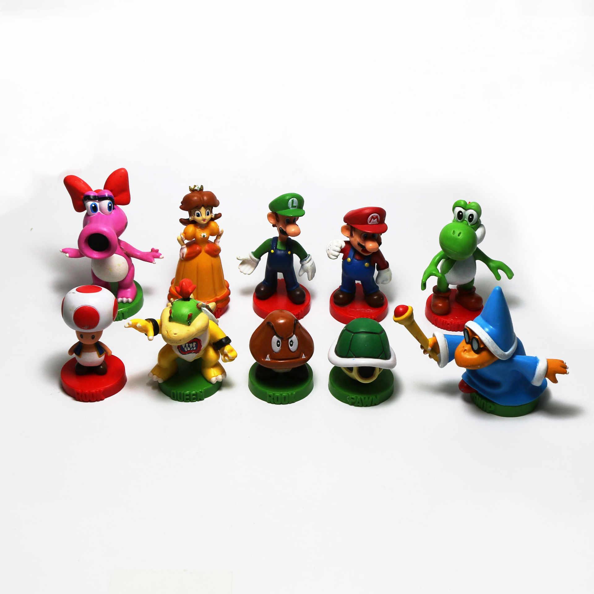 Foreign Trade Overstock Mario Anime Decoration Super Mario Garage Kit Doll Pendant Model