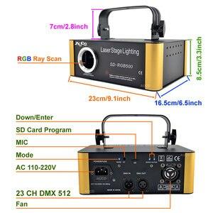 Image 2 - SD 카드 DMX RGB 컬러 Editable ILD 애니메이션 음악 레이저 프로젝터 스트로브 조명 디스코 파티 DJ 클럽 무대 컬러 음악 조명