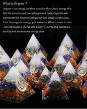 AURAREIKI – pyramide Orgonite Ajna Chakra Raziel cristal naturel obsidienne expulse Forces maléfiques, résine artisanat bijoux 4 CM