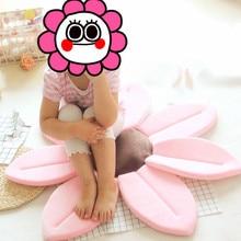 Newborn Baby Bath Flower mat Bathtub Foldable Blooming  Tub Sink Play Sunflower Cushion #Flower003