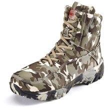 Męskie buty wojskowe jakości specjalne siły taktyczne pustynne walki kostki łodzie armii pracy buty odkryty mężczyzna kamuflażu buty trekingowe