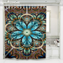 Large Shower Curtain Mandala Bathroom Curtain Hippie Psychedelic Bath Curtain Boho Flowers Shower Curtains Bathroom Waterproof flowers blossom waterproof bath curtain