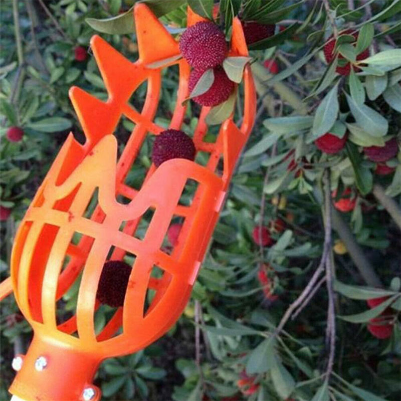 Hot Orange Plastic Fruit Picker Practical Gardening Picking Tool Fruits Catcher QP2