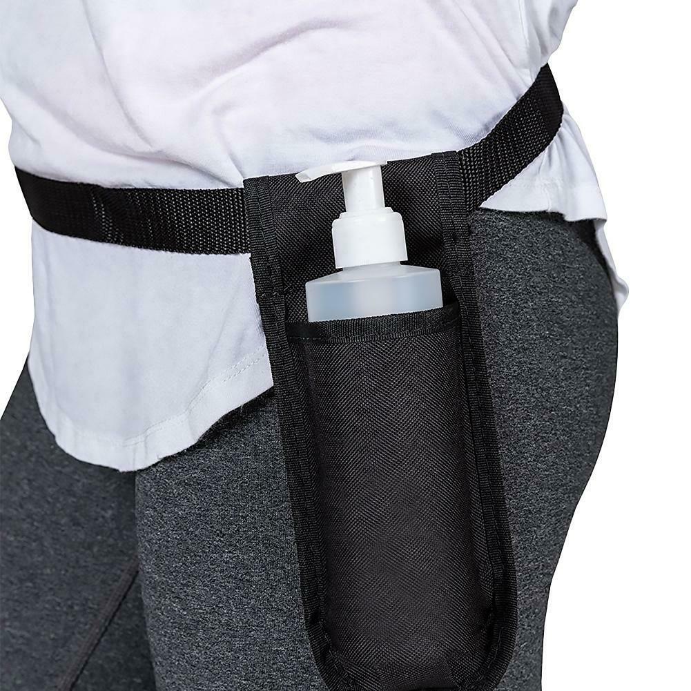 Oxford pano bebê massagem garrafa coldre único kit massagem óleo loção dispensador ajustável cinto titular cintos para mulher
