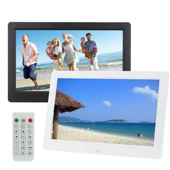 """10.1"""" LCD HD Digital Photo Picture Frame Alarm Clock MP4 Film Player Gift BLK"""