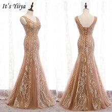 Женское вечернее платье без рукавов it's yiiya белое длинное