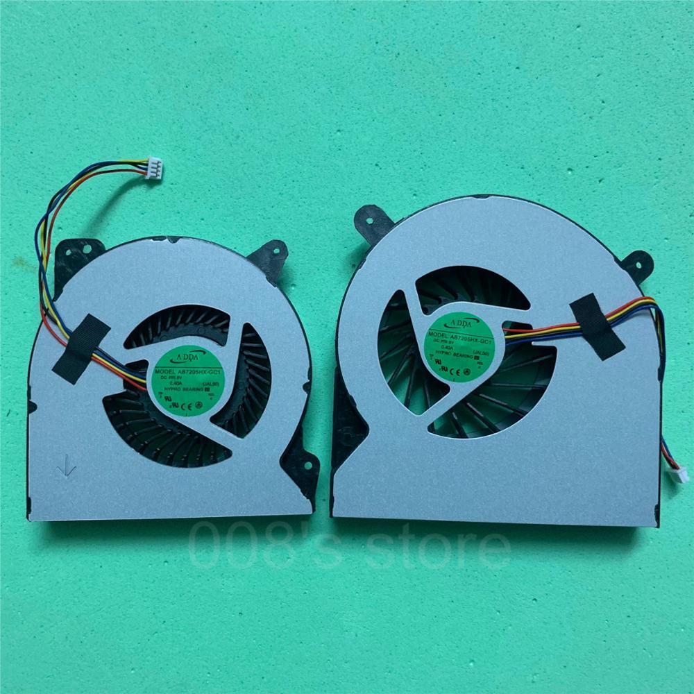 New CPU GPU Cooler OEM Fan For Asus ROG G750 G750JH G750JM G750JZ G750V G750JS G750JW ET2321 V230IC Radiator Thickness 14mm