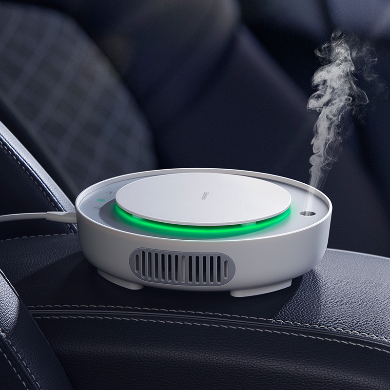 BASEUS 2 in1 Car Air Purifier with Negative Ions and Filter to Remove Formaldehyde and Dust Particles