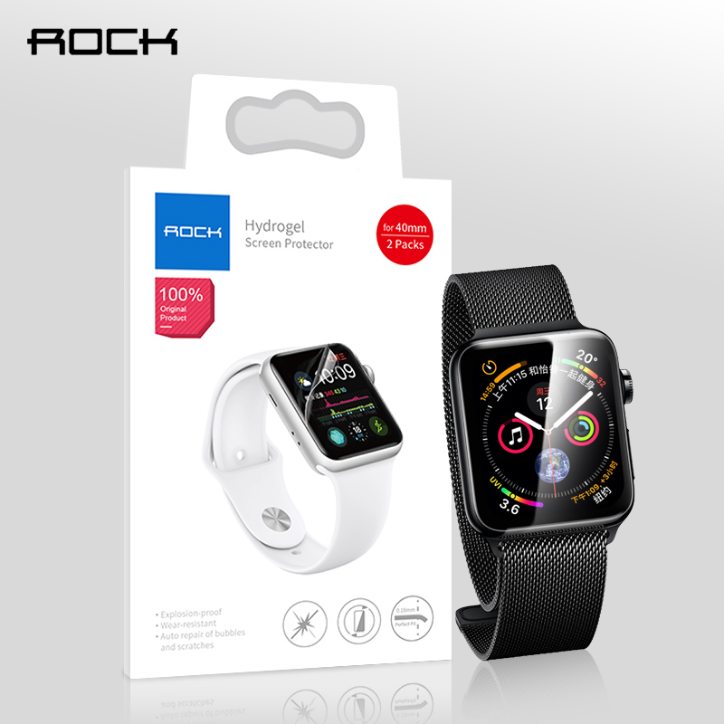 2pcs Screen Protector for Apple watch 4 3 2 3D ROCK Hydrogel Full Cover Protective Film for i watch 38mm 42mm 40mm 44mm