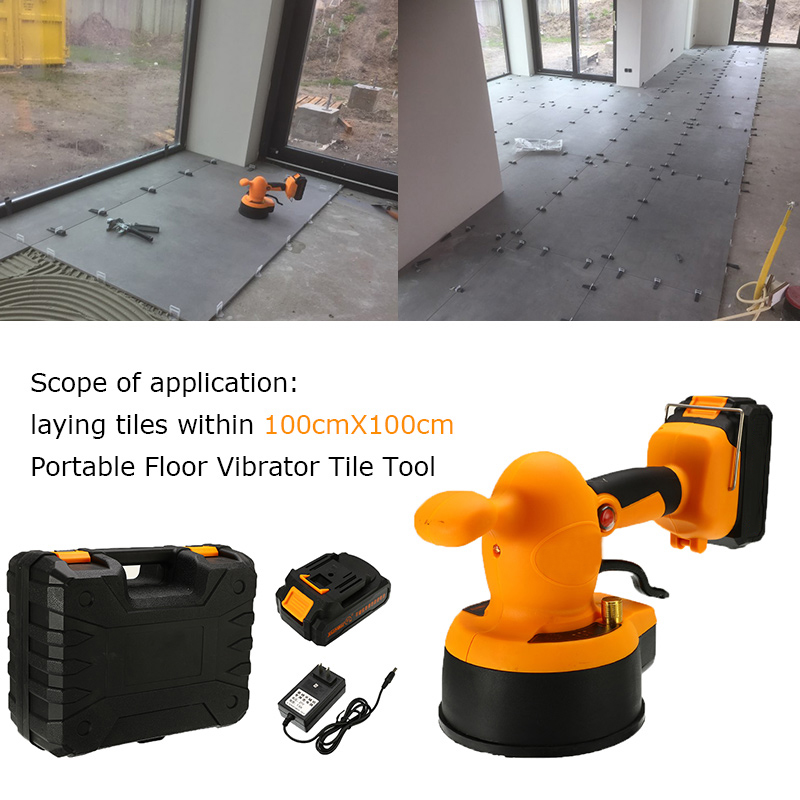21V Tile Machines Professional Tiling Tool Tile Vibrator Machine For Laying Tiles Floor Leveling Tools Construction Tool