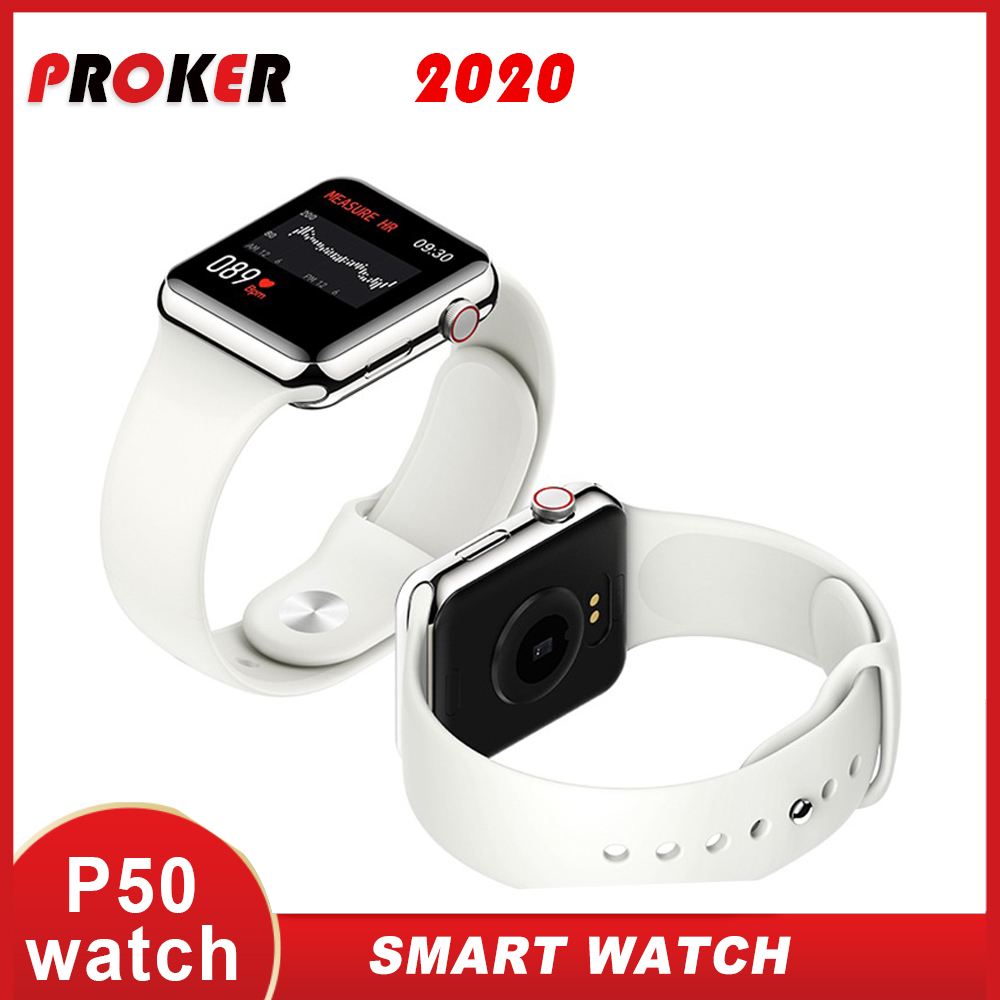 PROKER Smart Watch Men And Women Heart Rate Monitor Blood Pressure For Apple Watch Change Face Full Touch Screen  Smartwatch P50