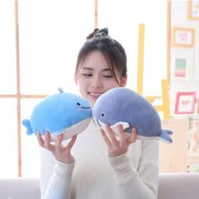 25CM Cute Down Cotton Whale Plush Toy Super Soft Dolphin Pillow Toys High Quality Aquatic Animals Birthday Gift