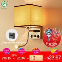 Interior moderno conduziu a lâmpada de parede cabeceira quarto applique arandela com interruptor usb e27 interior cabeceira casa hotel luzes parede