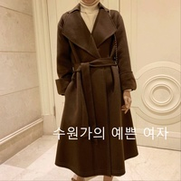Sy91002 Young Series High Ji Bead Edge Sleeves Long Large Lapel Double Sided Sew Wool Overcoat Women's