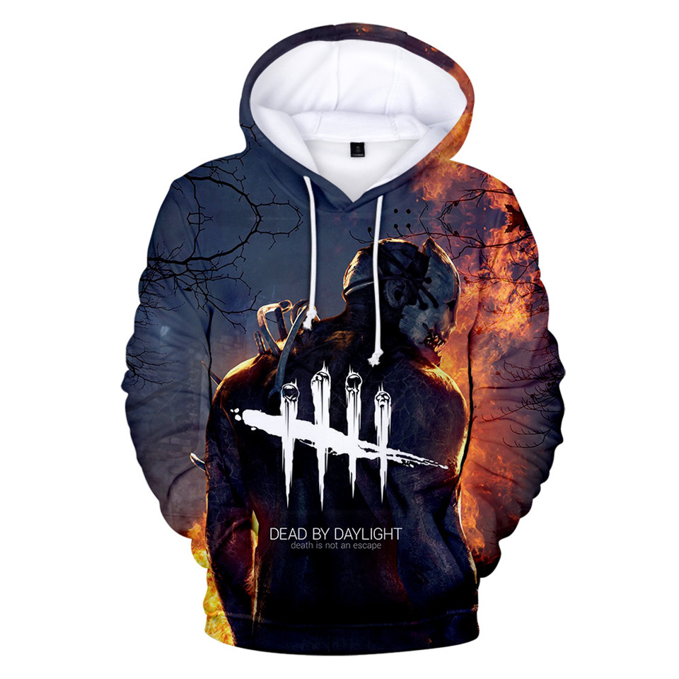 Dead By Daylight 3D Hoodies Men/Women Long Sleeve Streetwear Hoodie And Sweatshirt Death Is Not An Escape Printed Jacket Clothes