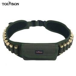Tourbon tactique chasse pistolet accessoires fusil de chasse 12/16/20 jauge munitions cartouches titulaire ceinture w/poche tir 20 tours Bandolier