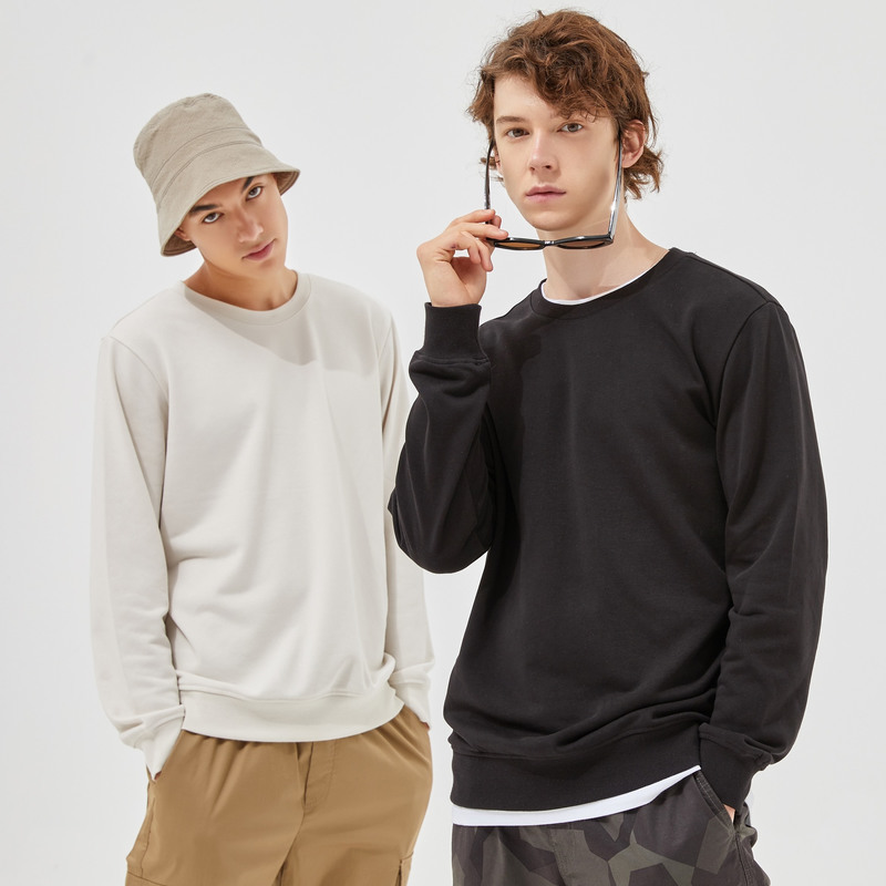 Metersbonwe Autumn And Winter new comfort Sweatshirt men Thick Knit pullover Solid color couple Hoodies 4