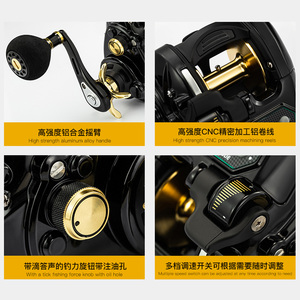 Image 5 - ECOODA  electric reel left/ right  hand reels EZH3000 EZH5000 bearing reel 12 Sea fishing wheel  Tension 15kg